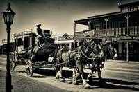 Tombstone Stage Coach Sepia Print