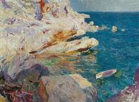 Joaquín Sorolla y Bastida - Jávea rocks and the wh