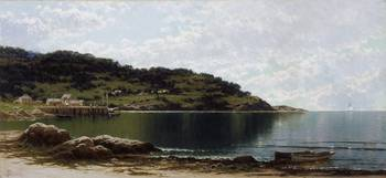 Along the Maine Coast, c.1885 (oil on canvas) by A