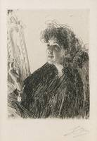 ANDERS ZORN, GIRL WITH A CIGARETTE I