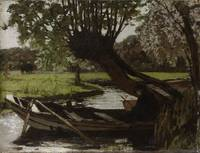 Boat with a Pollard Willow, Matthijs Maris, 1863
