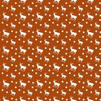 deer dots orange