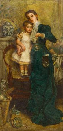 Continental School(19th century)Woman with Child a