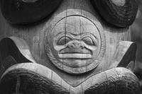 Sitka Totem Moon, Black and White