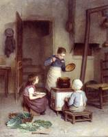 Edouard Frere ( 1819 - 1886), The Young Cook