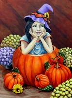 Child In Pumpkin