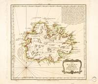 Map of Antigua by Juan Lopez (1780)