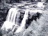 West Virginia Blackwater Falls Black and White