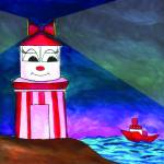 """""""Happy Lighthouse"""" by Lisa_Pluchino"""
