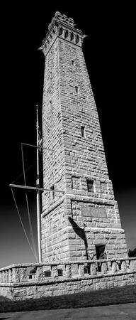 Pilgrim Monument Black n White