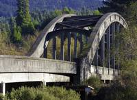 Blue lake bridge