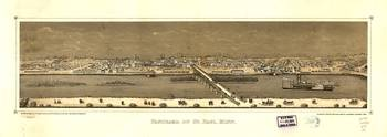 Panorama of St. Paul, Minnesota (1873)