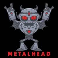 Metalhead - Heavy Metal Robot Devil - With Text
