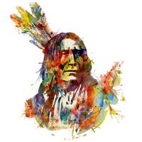 Chief Mojo Watercolor