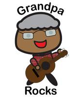 Black Grandpa Rocks Guitar