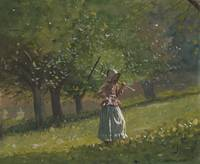 Girl with Hay Rake by Winslow Homer