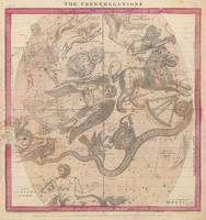 Burritt Star Map April, May, June (1856)
