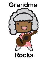 Black Grandma Rocks Guitar Cute