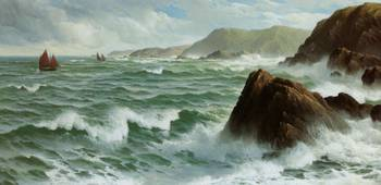 A North Easter Coast of Devon by David James