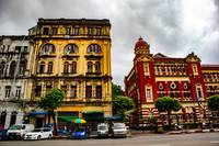 Old colonial buildings in Yangon