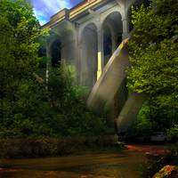 arched bridge over the blackstone river