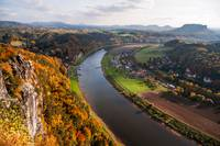 Elbe River. Saxon Switzerland