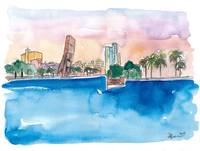 Fort Lauderdale_Skyline Sunset In Florida