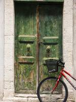 Green Door and Bicycle