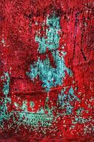 RED CHIPPED PAINT on CONCRETE, Edit B
