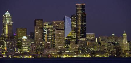 Seattle Downtown Skyline at night