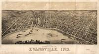 Panoramic view of Evansville, Indiana (1880)