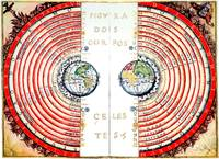 Velho - Cosmic map using geocentric model, 1568