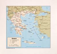 Map of Greece (1984)