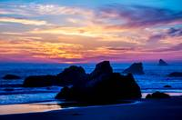 Magical Sunset - Harris Beach - Brookings Oregon