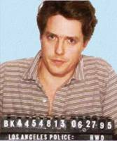 Painting of Hugh Grant Mug Shot 1995 Black Color