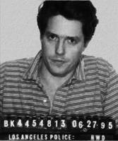 Painting of Hugh Grant Mug Shot 1995 Black And Whi