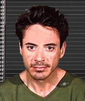 Robert Downey Jr Mug Shot 2001 Color Long