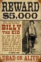 Billy The Kid Mug Shot Wanted Poster