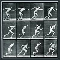 Time Lapse Motion Study Man Running Monochrome