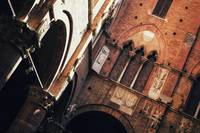 Inner Yard of Palazzo Pubblico in Color