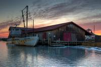 Icy Sunrise at the Chesapeake Bay Maritime Museum