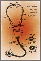 Doctor Stethoscope 2 Patent Blueprint Drawing Sepi
