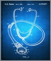 Doctor Stethoscope 2 Patent Blueprint Drawing