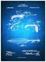 Fly Fishing Bait Patent Blueprint Drawing