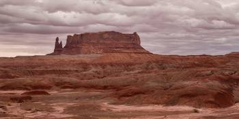 Arizona Red Clay Painted Desert Panoramic View