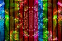 Colored Kaleidoscope Panels