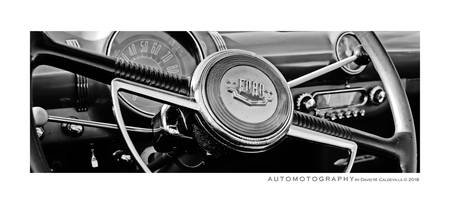 1950 Ford Cockpit 2 BW