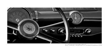 1950 Ford Cockpit BW