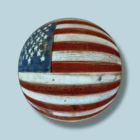 American Flag Wood Orb