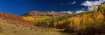 Rocky Mountain Autumn Panorama View